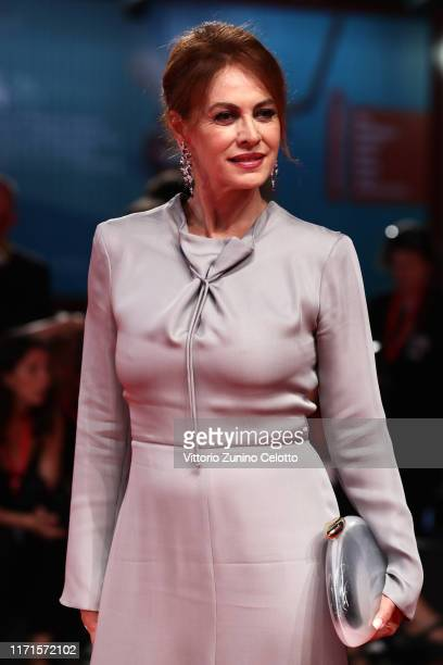 Elena Sofia Ricci walks the Filming In Italy red carpet during the 76th Venice Film Festival at Sala Grande on September 01 2019 in Venice Italy