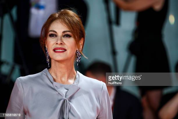 Elena Sofia Ricci walks the Kineo Prize red carpet during the 76th Venice Film Festival at Sala Grande on September 01 2019 in Venice Italy