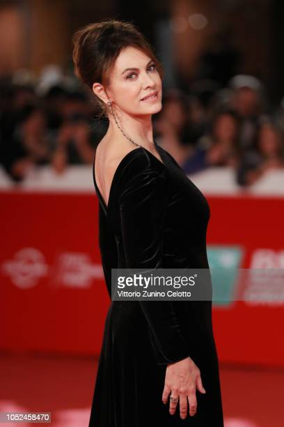 """Elena Sofia Ricci walks the red carpet ahead of the """"Bad Times At The El Royale """" screening during the 13th Rome Film Fest at Auditorium Parco Della..."""