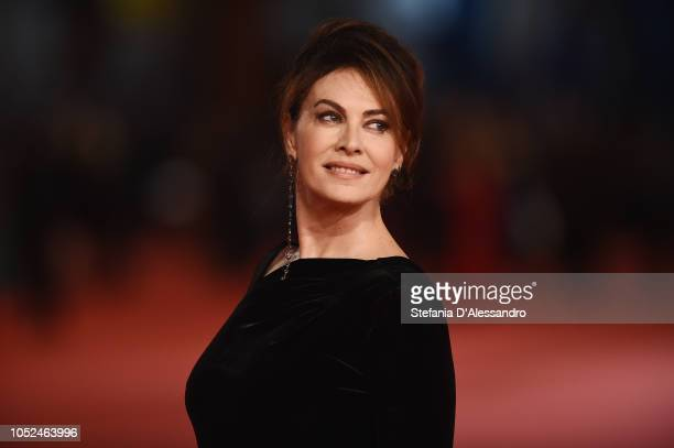 Elena Sofia Ricci walks the red carpet ahead of the Bad Times At The El Royale screening during the 13th Rome Film Fest at Auditorium Parco Della...