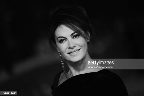 Elena Sofia Ricci walks the red carpet ahead of the 'Bad Times At The El Royale ' screening during the 13th Rome Film Fest at Auditorium Parco Della...