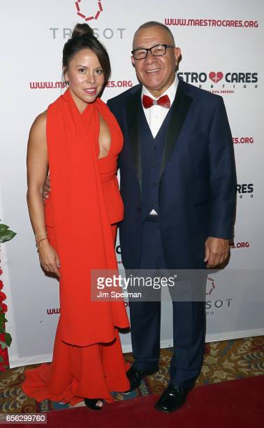 Elena Sotomayor and coFounder of Maestro Cares foundation Henry Cardenas attend the Maestro Cares Foundation's Fourth Annual Changing Lives/Building...
