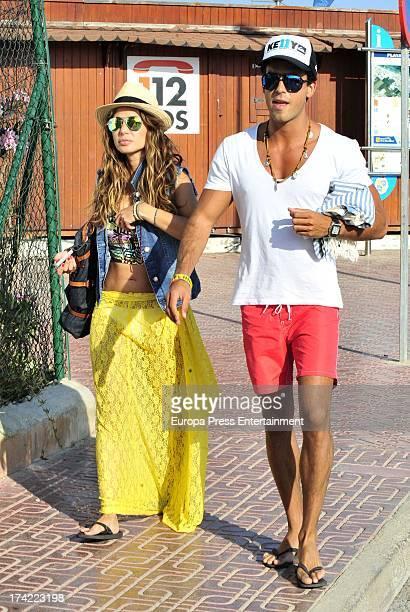 Elena Tablada and Daniel Arigita are seen on July 21 2013 in Ibiza Spain