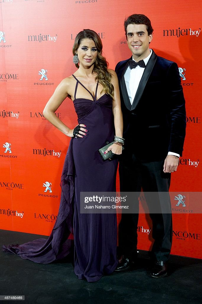 Elena Tablada (L) and David Argita attend the 'Mujer de Hoy' awards 2013 at the Hotel Palace on December 17, 2013 in Madrid, Spain.
