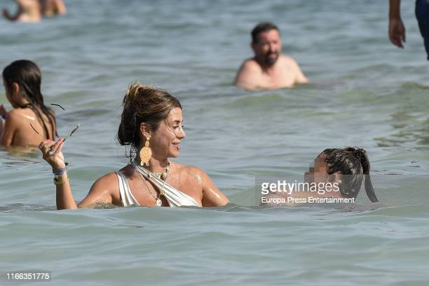 Elena Tablada and Ella Bisbal Tablada are seen on August 05 2019 in Ibiza Spain