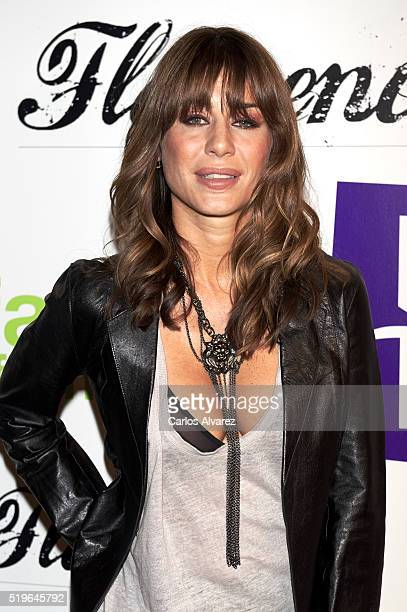 Elena Tablada attends 'Flamenco Solidario' party at Bucca Club on April 7 2016 in Madrid Spain