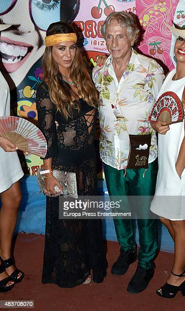 Elena Tablada attends Flower Power party on August 11 2015 in Ibiza Spain