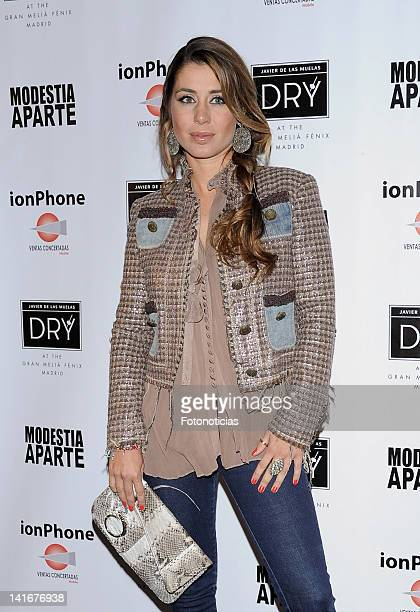 Elena Tablada attends IonPhone launch event at the Dry Cosmopolitan Bar at the Gran Melia Fenix Hotel on March 21 2012 in Madrid Spain