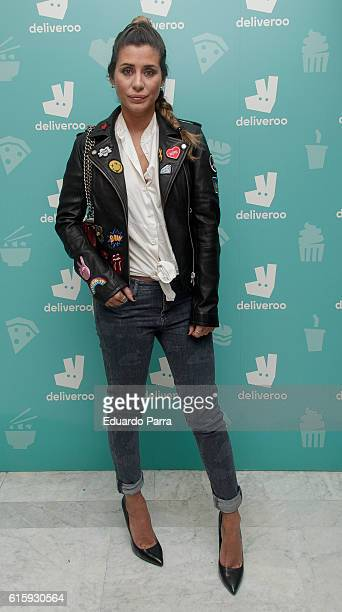 Elena Tablada attends the Deliveroo aniversary party photocall at Circulo de Bellas Artes on October 20 2016 in Madrid Spain