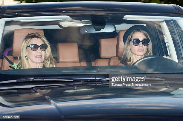 Elena Tablada attends the funeral chapel for Rafael Lozano on September 23 2014 in Madrid Spain