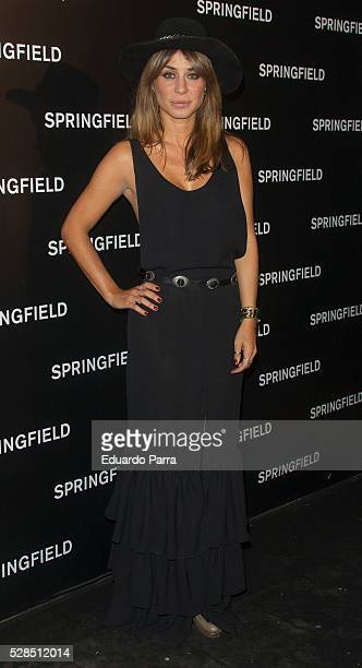 Elena Tablada attends the Springfield fashion film presentation photocall at Fortuny palace on May 05 2016 in Madrid Spain