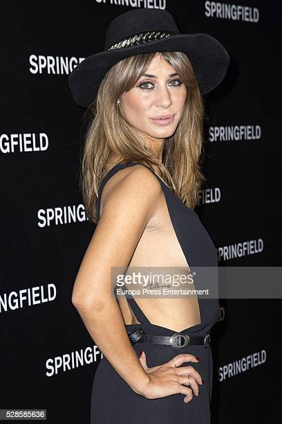Elena Tablada attends the Springfield fashion film presentation photocall at Fortuny palace on May 5 2016 in Madrid Spain
