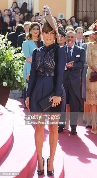 Elena Tablada attends the wedding of Cayetano Rivera and Eva Gonzalez at Mairena del Alcor on November 6 2015 in Seville Spain