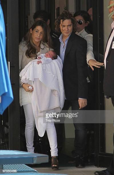 Elena Tablada Ella Bisbal Tablada and David Bisbal leave South Miami Hospital on February 25 2010 in Miami Florida
