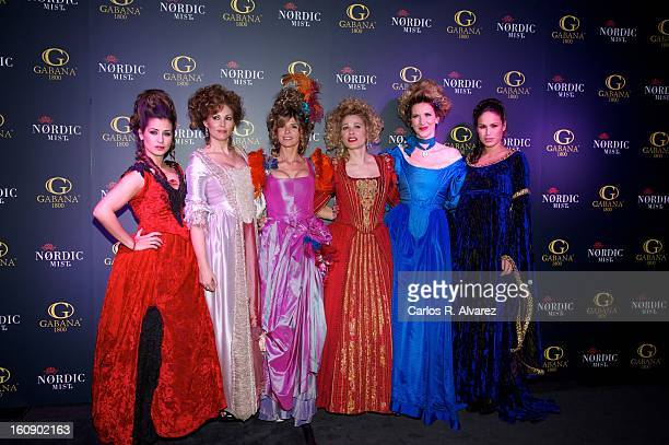 Elena Tablada Raquel Rodriguez Arantxa de Benito Carla Hidalgo Alejandra Prat and Mireia Canalda attend 'Carnaval 2013' party at Gabana Club on...