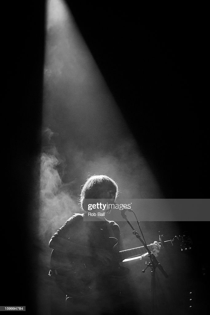 Elena Tonra of Daughter performs at Hackney Empire on January 24, 2013 in London, England.