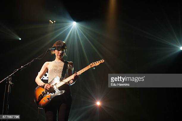 Elena Tonra of Daughter performs at Stravinski auditorium on July 12 2016 in Montreux Switzerland
