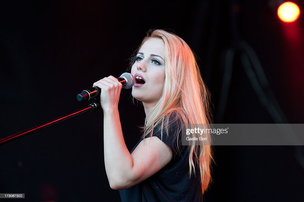 Elena Vasilache of Hot Casandra performs on stage on Day 4 of Open'er Festival 2013 on July 6, 2013 in Gdynia, Poland.