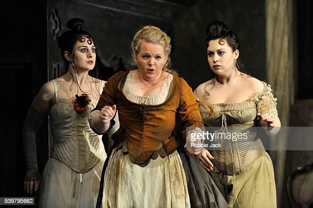Elena Xanthoudakis as Clorinda Elizabeth DeShong as Cenerentola and Victoria Yarovaya as Tisbe in Glyndebourne's production of Gioachino Rossini's La...