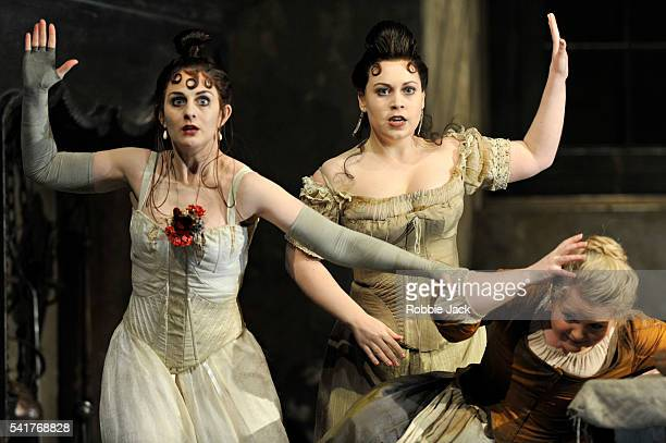 Elena Xanthoudakis as Clorinda Victoria Yarovaya as Tisbe and Elizabeth DeShong as Cenerentola in Glyndebourne's production of Gioachino Rossini's La...