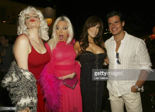 Elender Wall Alexis Arquette Cafe Entertainmen Chairwoman and CEO Celia Fox and Antonio Sabato Jr