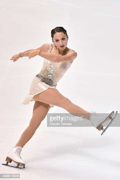 Elene Gedevanishvili of Georgia competes in the Ladies Short Program during day one of ISU Grand Prix of Figure Skating 2014/2015 NHK Trophy at the...