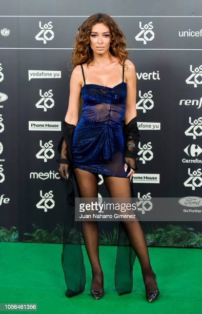 Eleni Foureira attends during 'LOS40 Music Awards' 2018 at WiZink Center on November 2 2018 in Madrid Spain