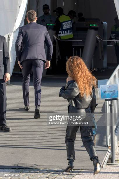 Eleni Foureira representing of Cyprus is seen at Altice Arena on May 12 2018 in Lisbon Portugal