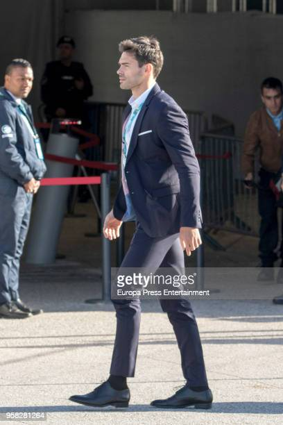 Eleni Foureira's boyfriend Alberto Botia is seen at Altice Arena on May 12 2018 in Lisbon Portugal
