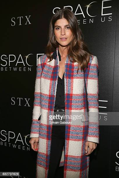 """Eleni Tsavousis attends STX Entertainment with The Cinema Society Host a Screening of """"The Space Between Us"""" on January 25, 2017 in New York City."""
