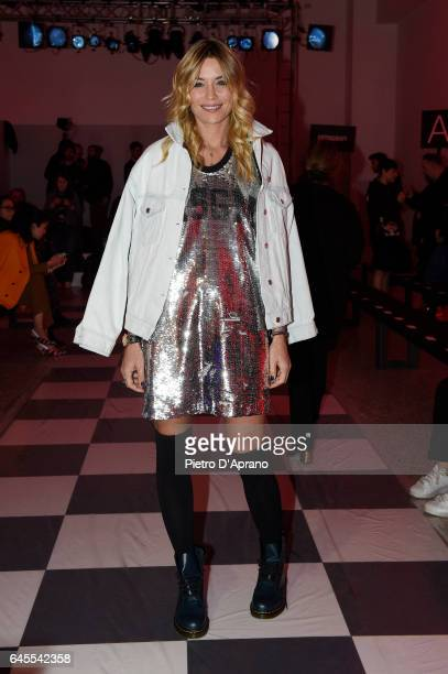Elenoire Casalegno attends the MSGM show during Milan Fashion Week Fall/Winter 2017/18 on February 26 2017 in Milan Italy