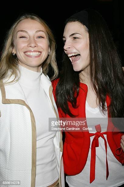 Eleonora Abbagnato and Bojana Panic at the Valentino Fall/Winter 20072008 collection during Paris Fashion Week