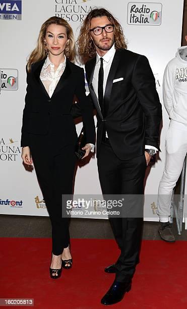 Eleonora Abbagnato and Federico Balzaretti attend the Gran Gala del Calcio Aic football awards ceremony at Teatro dal Verme on January 27 2013 in...