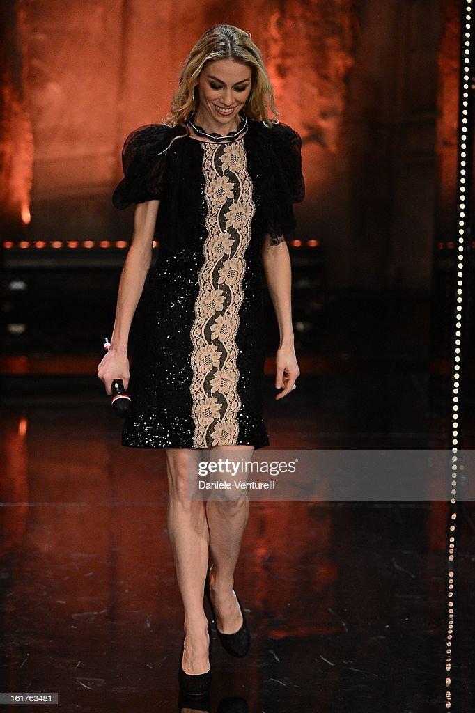 Eleonora Abbagnato attend the fourth night of the 63rd Sanremo Song Festival at the Ariston Theatre on February 15, 2013 in Sanremo, Italy.
