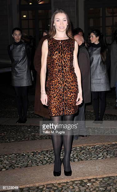Eleonora Abbagnato attends Vogueit during Milan Fashion Week Womenswear Autumn/Winter 2010 on February 26 2010 in Milan Italy