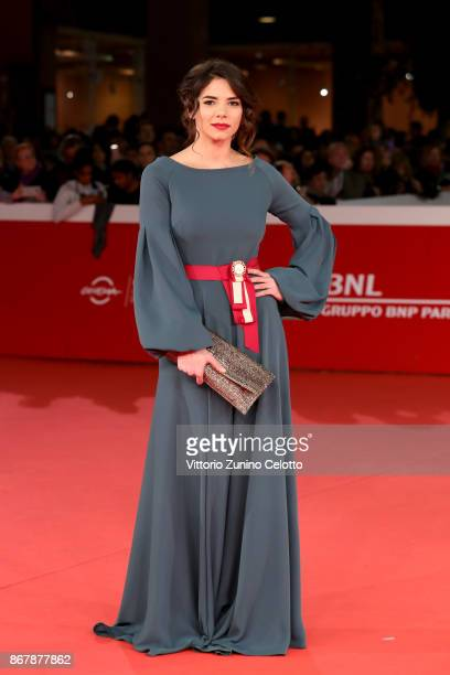 Eleonora Belcamino walks a red carpet for 'Prendre La Large' during the 12th Rome Film Fest at Auditorium Parco Della Musica on October 29 2017 in...