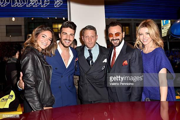 Eleonora Brunacci Mariano Di Vaio Lapo Elkann Alessandro Martorana and Elena Barolo attend KartellLapo It's A Wrap Party on April 12 2016 in Milan...