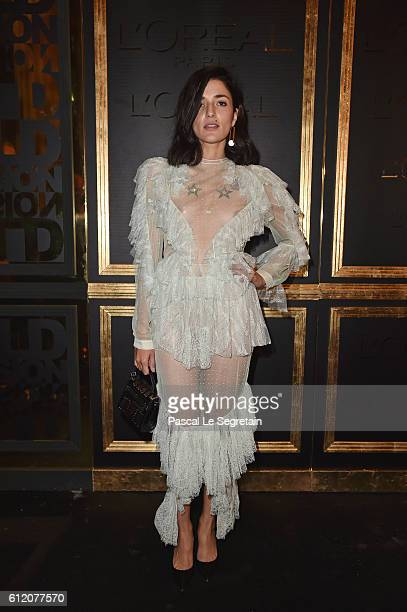 Eleonora Caresi attends the Gold Obsession Party L'Oreal Paris Photocall as part of the Paris Fashion Week Womenswear Spring/Summer 2017 on October 2...