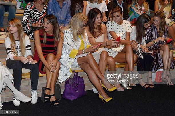 Eleonora Caressa Benedetta Parodi Mara Venier Fabiola Sciabbarrasi Cristina Chiabotto attend the Laura Biagiotti show during Milan Fashion Week...