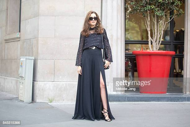 Eleonora Carisi at the Elie Saab show at Pavillon Cambon on July 6, 2016 in Paris, France.
