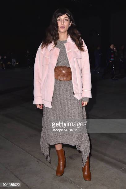 Eleonora Carisi attends the Diesel Black Gold show during Milan Men's Fashion Week Fall/Winter 2018/19 on January 13 2018 in Milan Italy