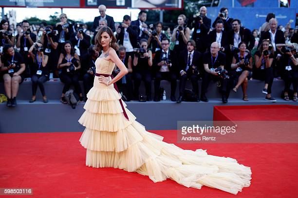 Eleonora Carisi attends the premiere of 'The Light Between Oceans' during the 73rd Venice Film Festival at Sala Grande on September 2 2016 in Venice...