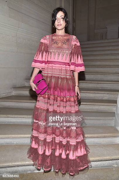Eleonora Carisi attends the Valentino Haute Couture Spring Summer 2017 show as part of Paris Fashion Week on January 25 2017 in Paris France