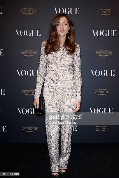 Eleonora Carisi attends the Vogue 95th Anniversary Party Photocall as part of the Paris Fashion Week Womenswear Spring/Summer 2016 on October 3 2015...
