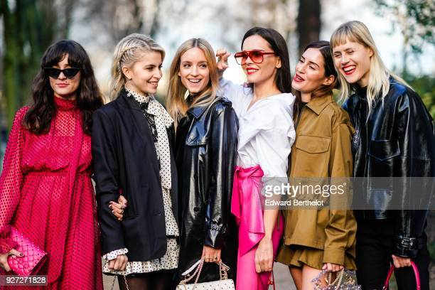 Eleonora Carisi Caroline Daur Charlotte Groeneveld Evangelie Smyrniotaki Gala Gonzalez Linda Tol outside Valentino during Paris Fashion Week...