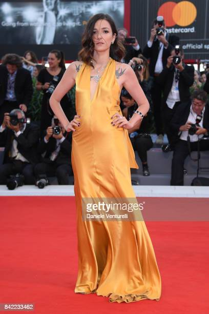 Eleonora Carisi walks the red carpet ahead of the 'The Leisure Seeker ' screening during the 74th Venice Film Festival at Sala Grande on September 3...