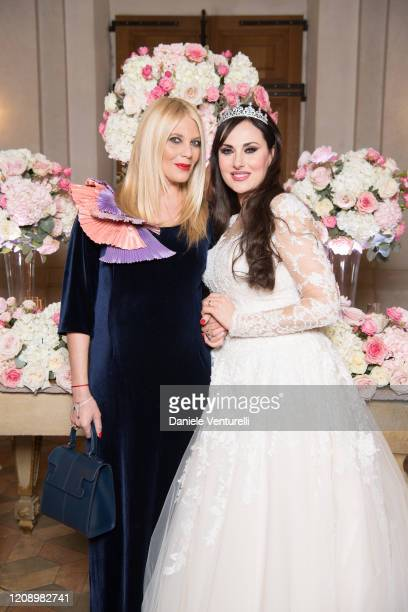 Eleonora Daniele and Isabelle Adriani attend the wedding of Earl Vittorio Palazzi Trivelli And Isabelle Adriani on February 22 2020 in Rome Italy