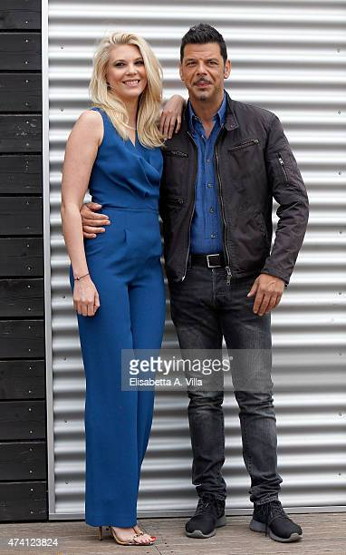 Eleonora Daniele and Salvo Sottile attend 'Estate In Diretta' Tv Show photocall at RAI on May 20 2015 in Rome Italy
