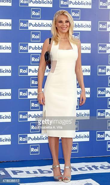 Eleonora Daniele attends RAI Yearly TV Show Schedule at Villa Piccolomini on June 25 2015 in Rome Italy