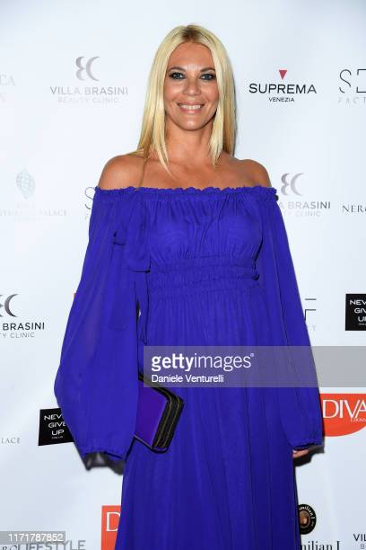 Eleonora Daniele attends the Diva E Donna Charity Dinner during the 76th Venice Film Festival at Centurion Palace on September 02 2019 in Venice Italy